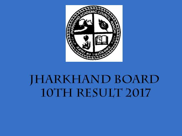 Jharkhand Board 10th Results 2017