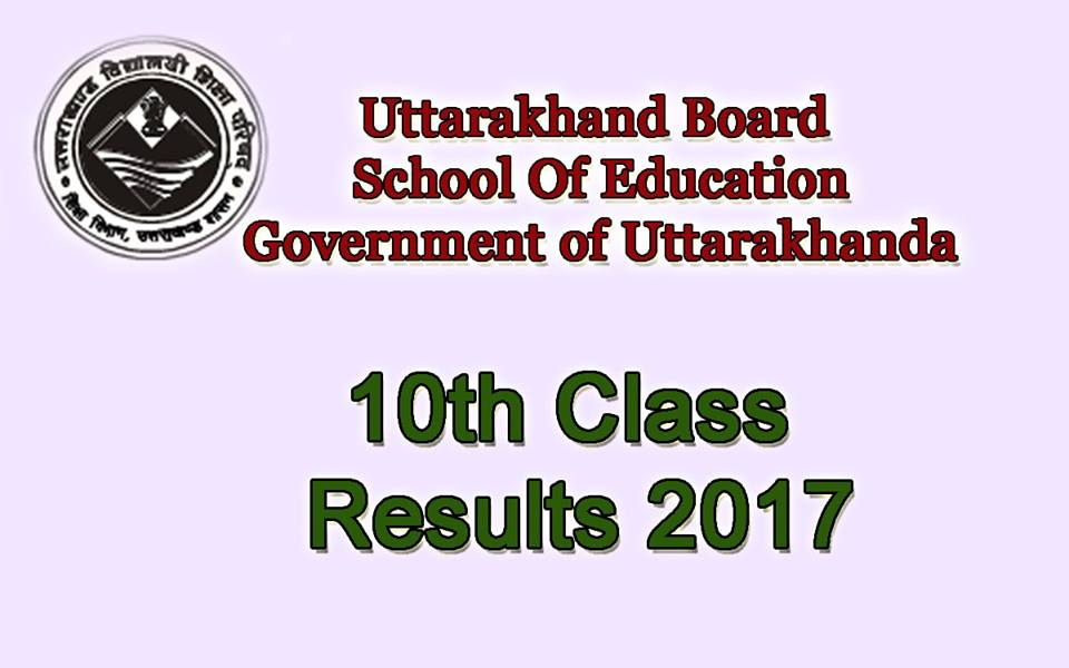 Uttarakhand Board 10th Result 2017
