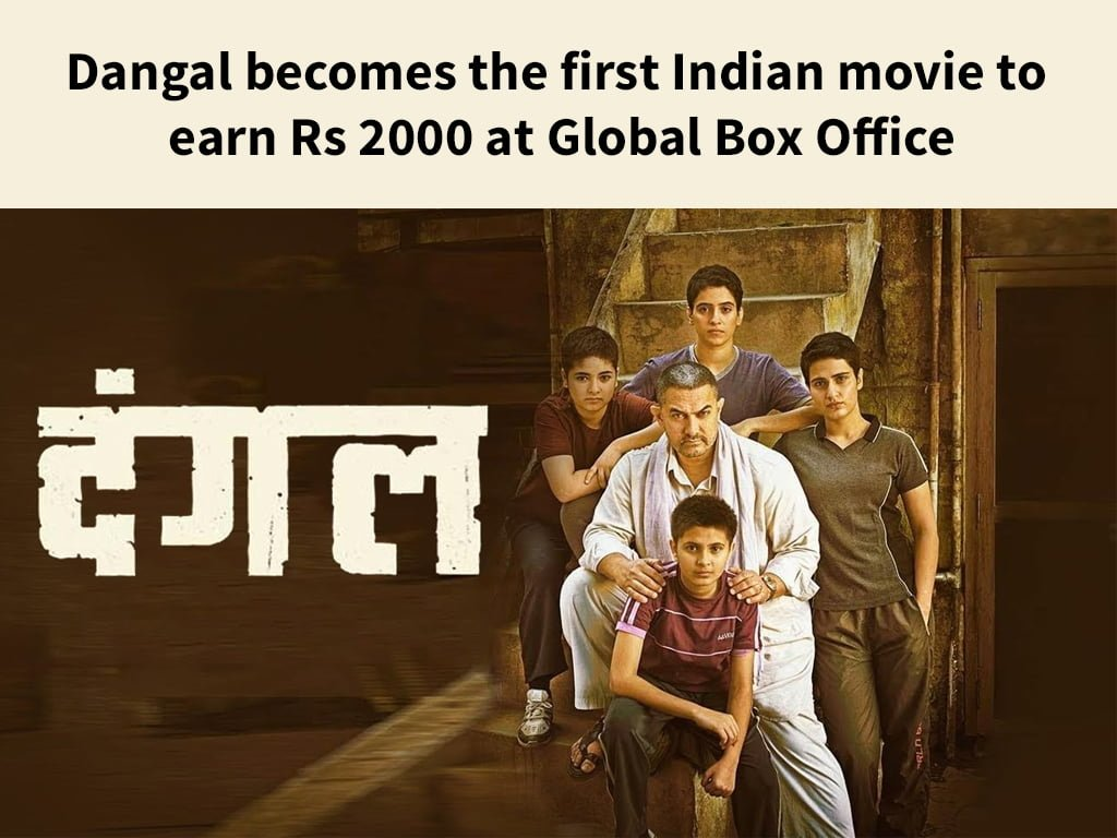 Dangal becomes the first Indian movie to earn Rs 2000