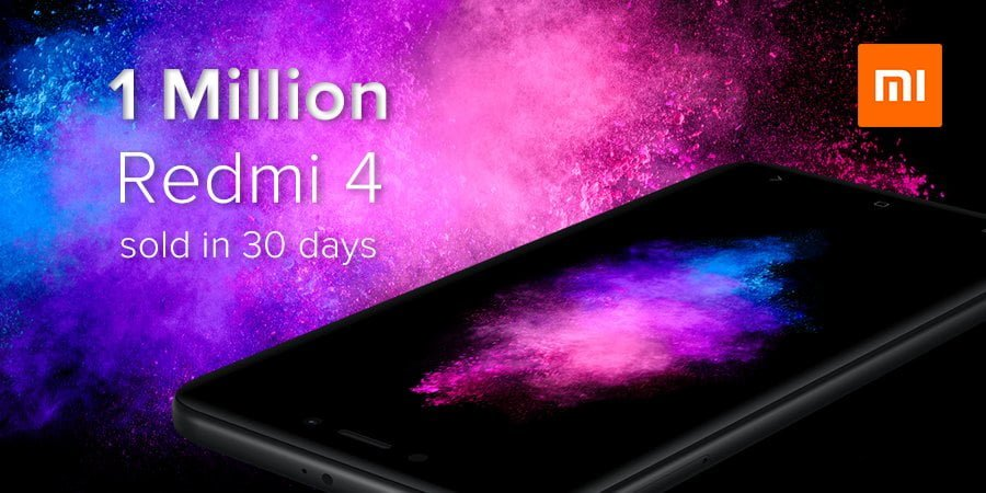Xiaomi Redmi 4 Sells 1 Million Units