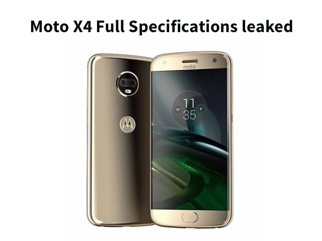 Moto X4 Full Specifications leaked