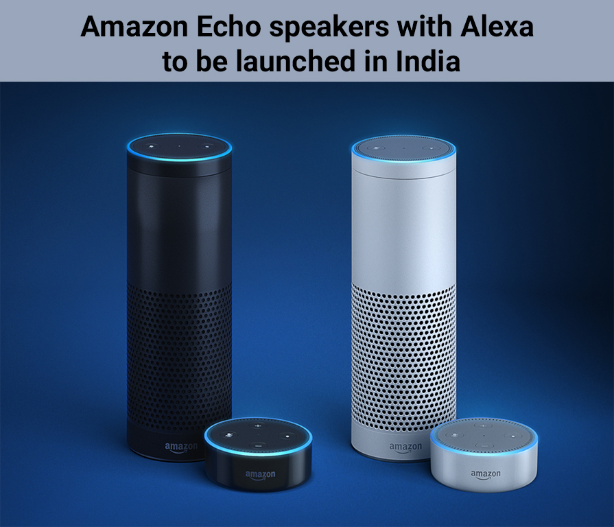 Amazon Echo speakers with Alexa