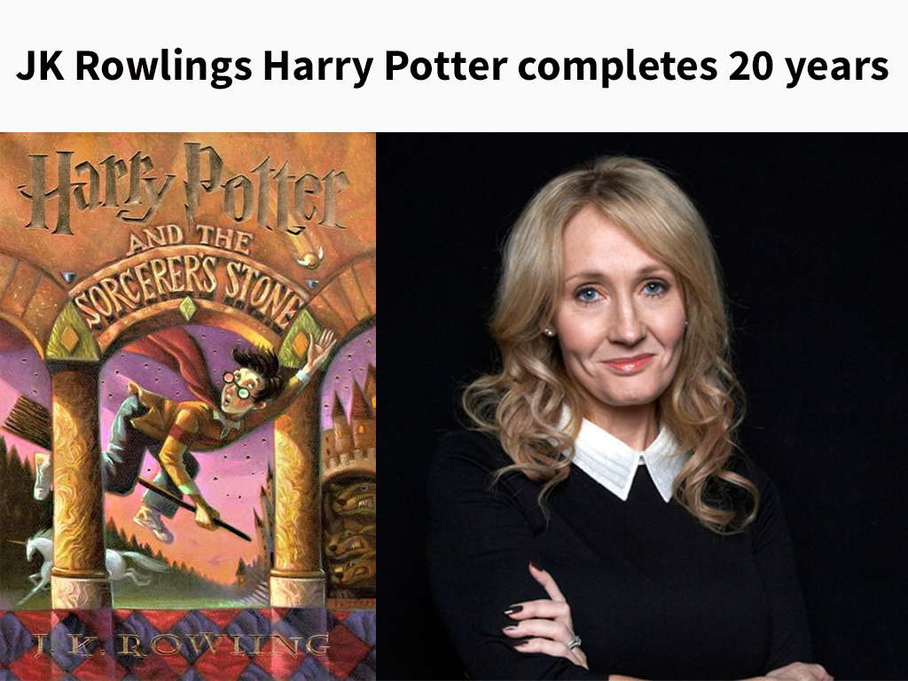 JK Rowlings Harry Potter completes 20 years
