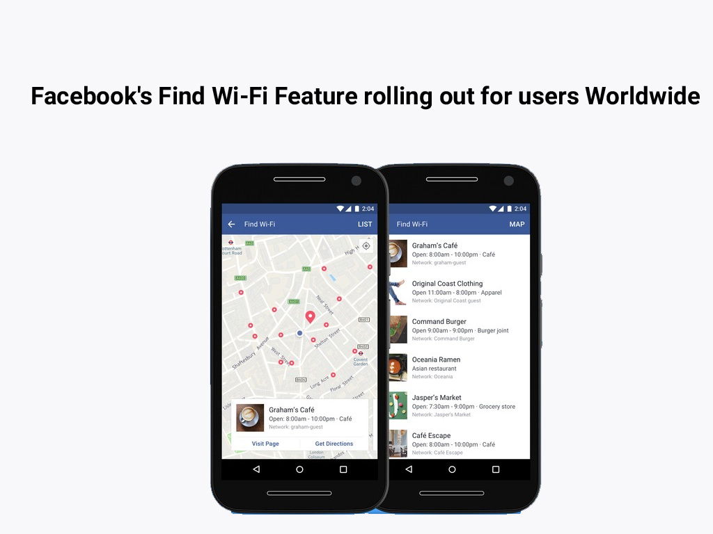 Facebook's Find Wi-Fi Feature rolling out for users Worldwide