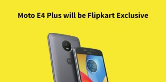 Moto E4 Plus will be Flipkart Exclusive