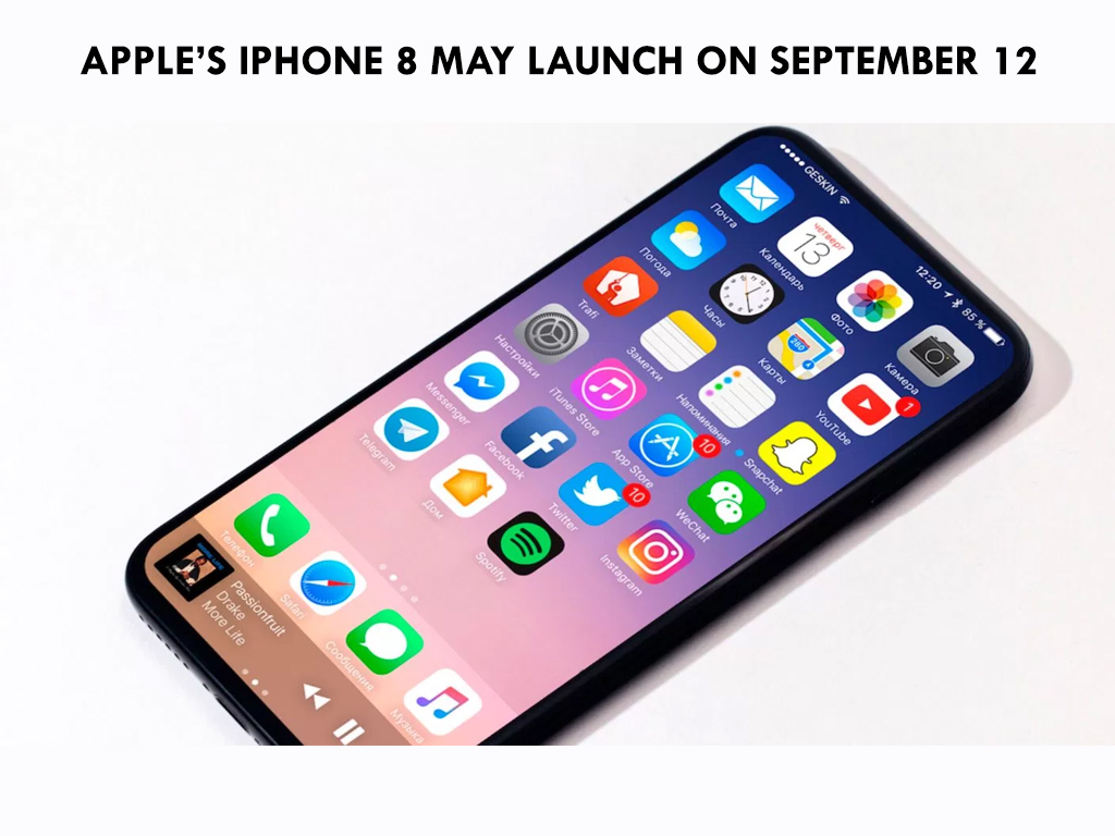 Apple S Iphone 8 May Launch On September 12 Latest Gazette