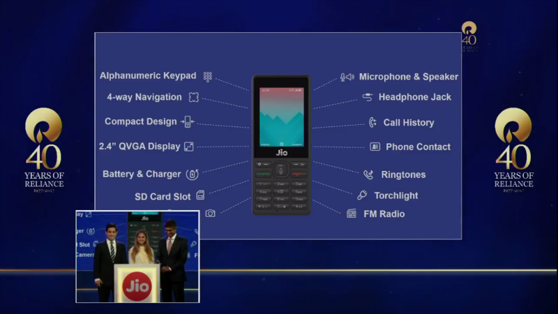 Reliance JioPhone: Price, specifications, availability and tarrif