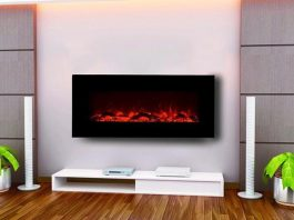 Electric fireplace for home